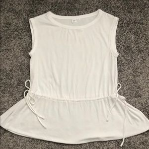 White soft Gap tank with ties on the sides